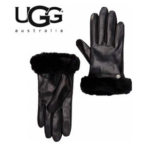 UGG Shearling/Cashmere Trimmed Leather Gloves NWT